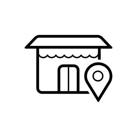 Shop location icon 向量圖像