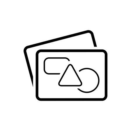 Graphics images icon Ilustracja