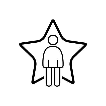 Superstar icon  イラスト・ベクター素材