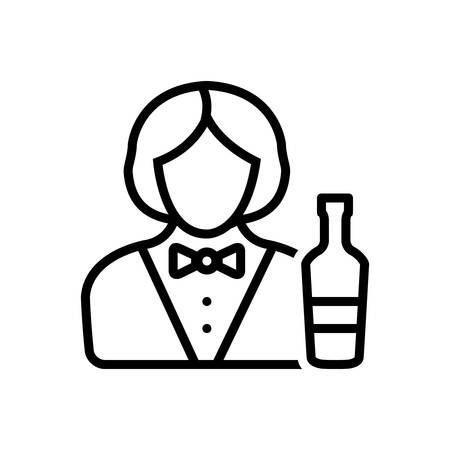 Bartender icon Ilustrace