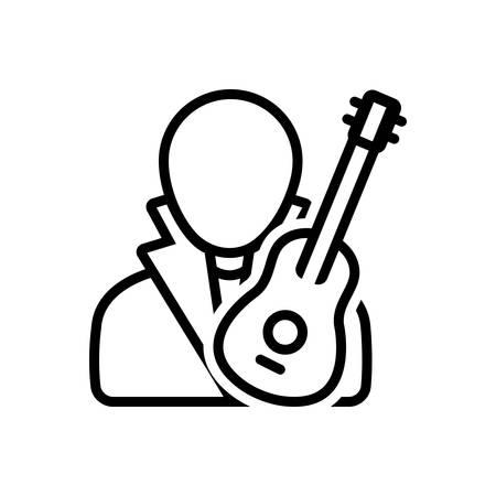Musician icon Иллюстрация