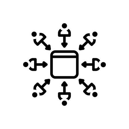 Leads icon Illusztráció