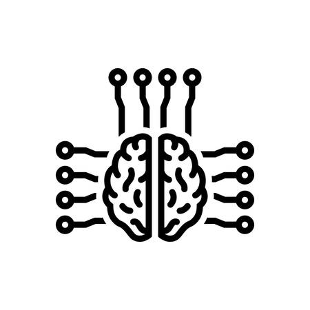Smart brain icon 向量圖像