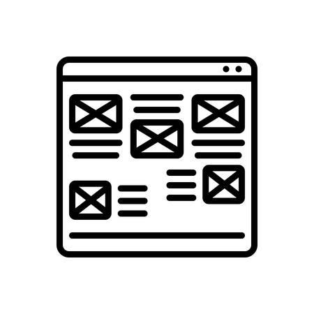 Website icon Ilustração