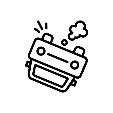 Accident icon Illustration