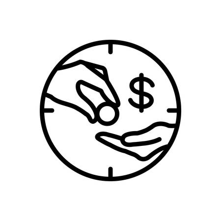 Wage icon Stock Illustratie