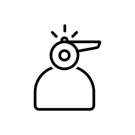 Whistleblower icon Foto de archivo - 124082952