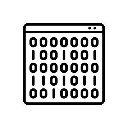 Binary code  icon Illustration