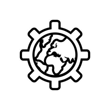 Globalization icon 矢量图像