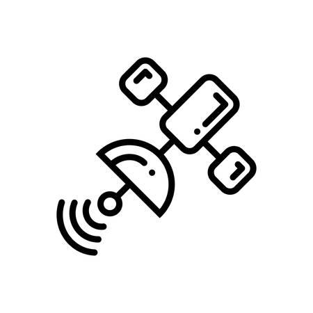 Satellite icon  イラスト・ベクター素材