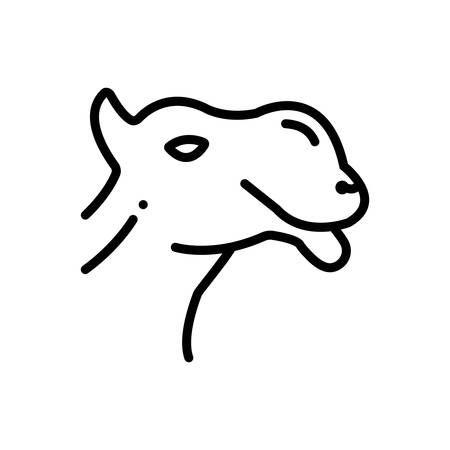 Icon for camel ,face