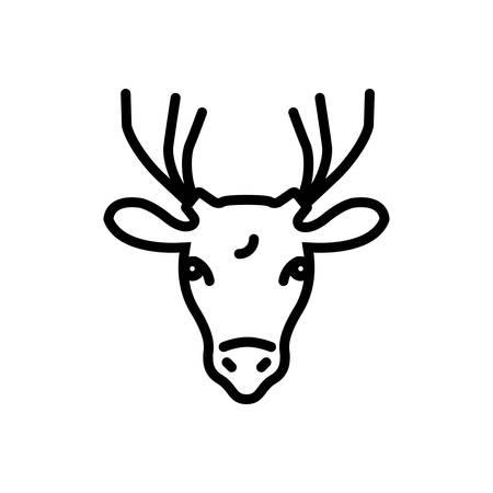 Icon for deer ,animal Archivio Fotografico - 124083040