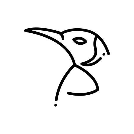 Icon for penguin, bird Çizim
