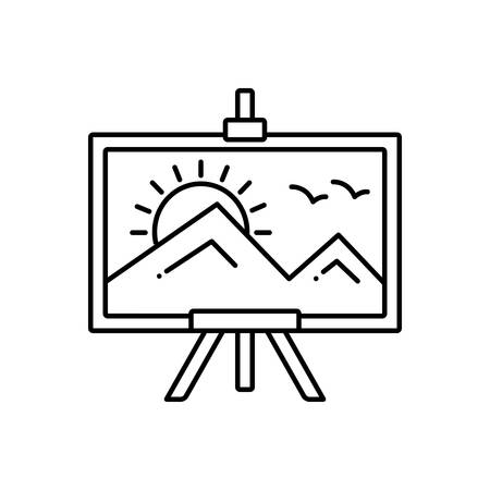 Painting icon Illustration
