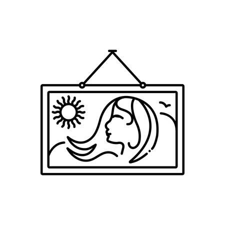 Painting icon Illustration