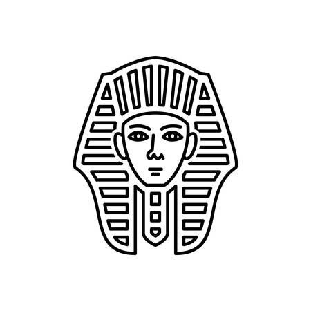 Egyptian face icon