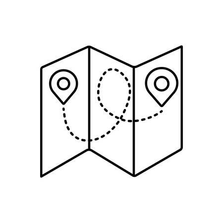 Folded map icon