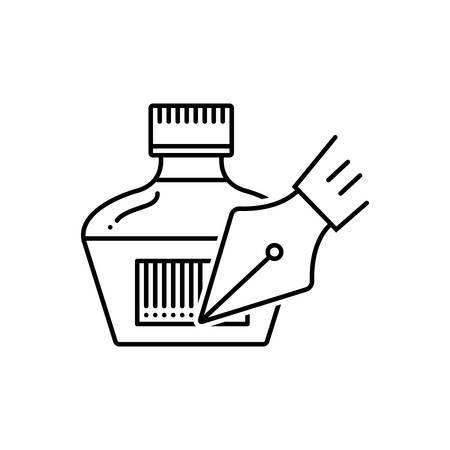 Inkpot icon Illustration