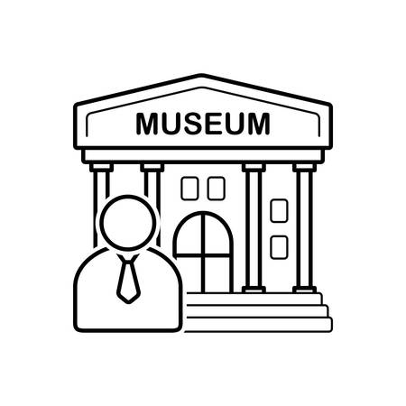 Museum guide  icon Illustration