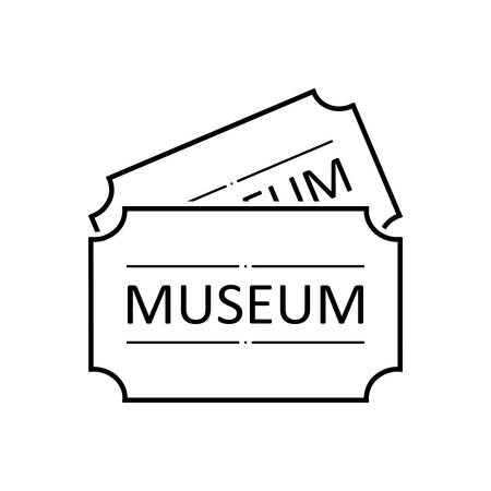 Museum tag icon