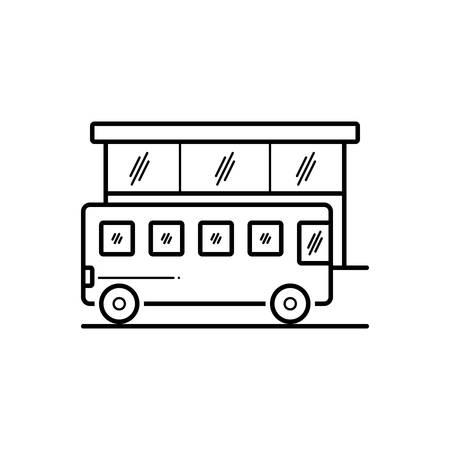 Bus stop icon Иллюстрация