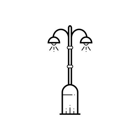 Street light icon Иллюстрация