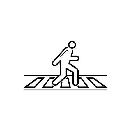 Zebra crossing icon Çizim