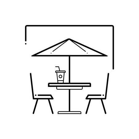 Outdoor cafe icon 写真素材 - 124980987