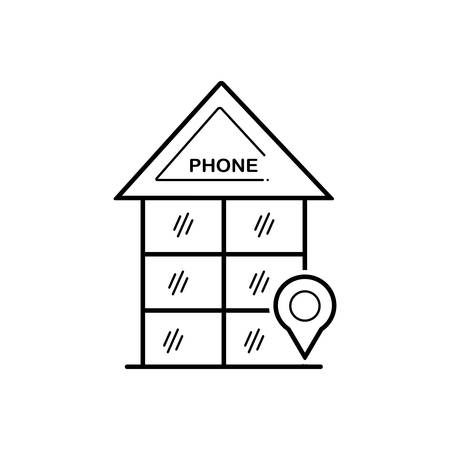 Phone booth icon 向量圖像
