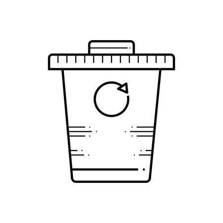 Recycle bin icon Banque d'images - 124980990