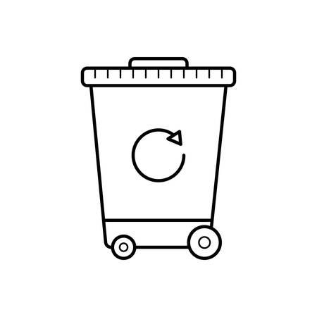 Recycle bin icon  イラスト・ベクター素材