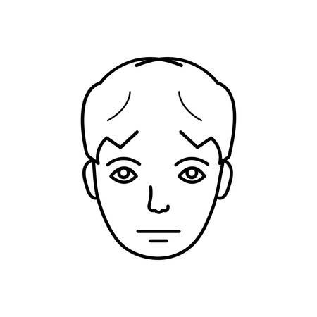 Sad face icon Фото со стока - 124981260