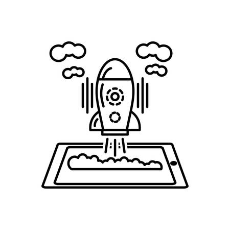 Spaceship icon Stock Illustratie