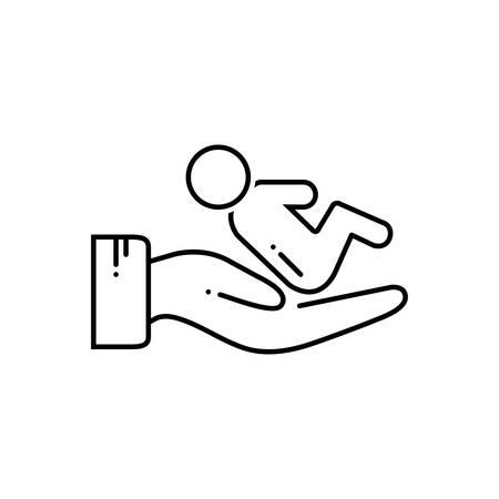 Postnatal icon Illustration