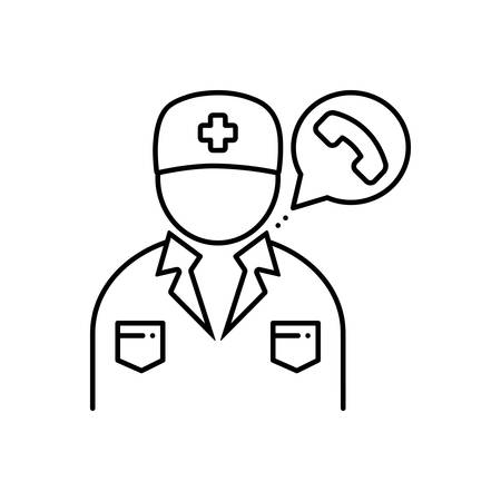 Doctor on call icon Ilustrace