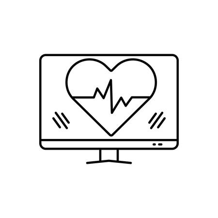 Heartbeat icon Иллюстрация