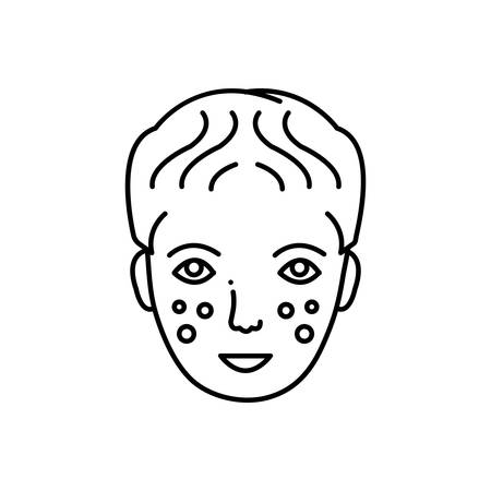 Laser dermatology icon Ilustração
