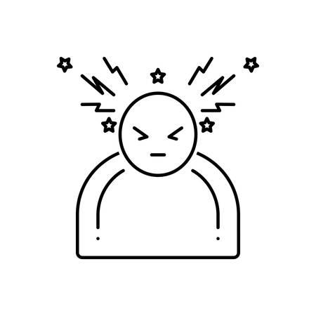 Headache icon Ilustração