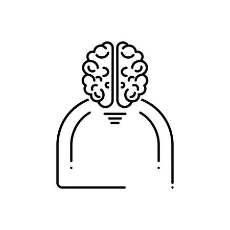 Human brain icon 写真素材 - 124981393