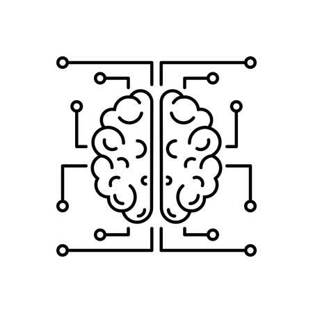 Brain icon Ilustração