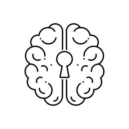Depression icon Illustration