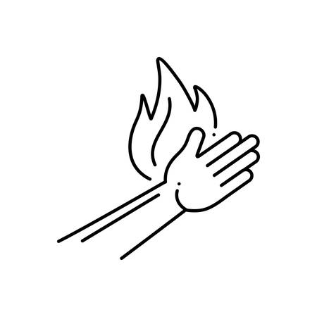 Burn injury icon Illustration