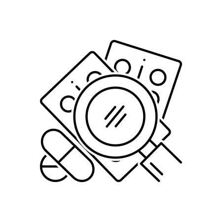Search for drug icon Illustration