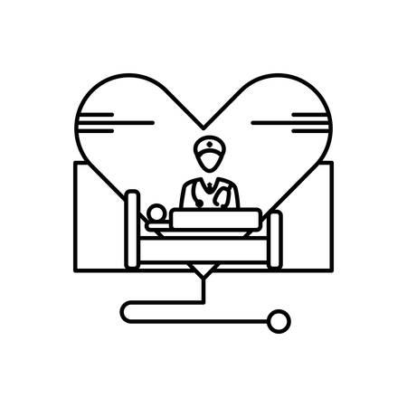 Healthcare icon Vektorové ilustrace