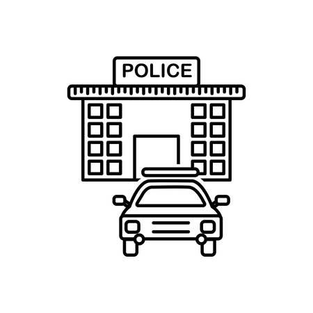 Police station icon  イラスト・ベクター素材