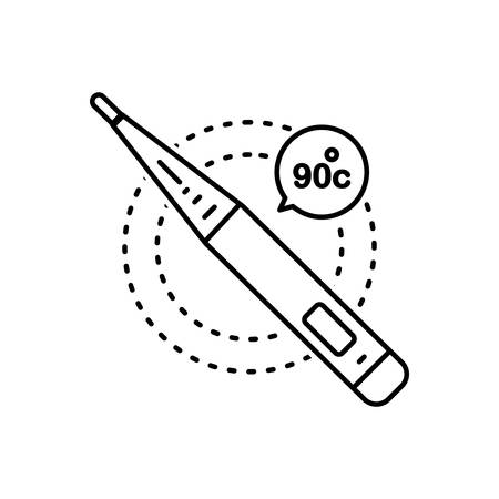 Thermometer icon Ilustração