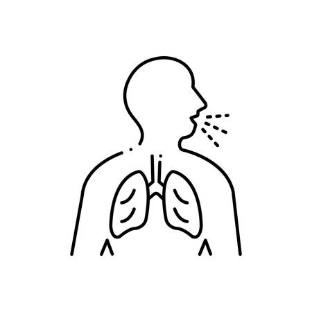 Respiration trouble icon Illustration