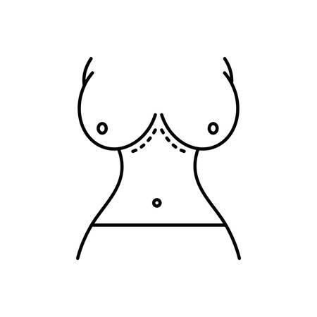 Breast augmentation icon