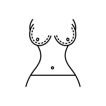 Breast reduction icon Ilustração