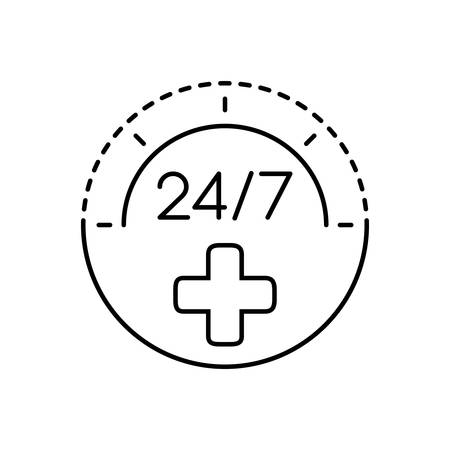 Twenty four by seven icon